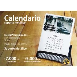 Calendarios Personalizado soporte metálico