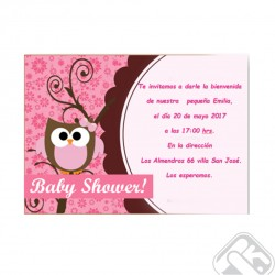 Tarjeta Baby Shower simple